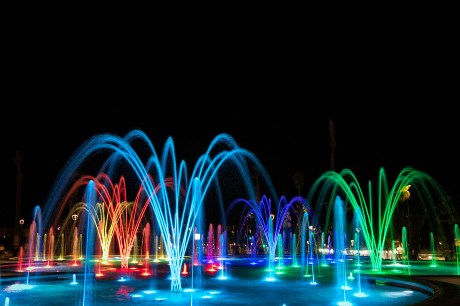 Fuegos artificiales de agua