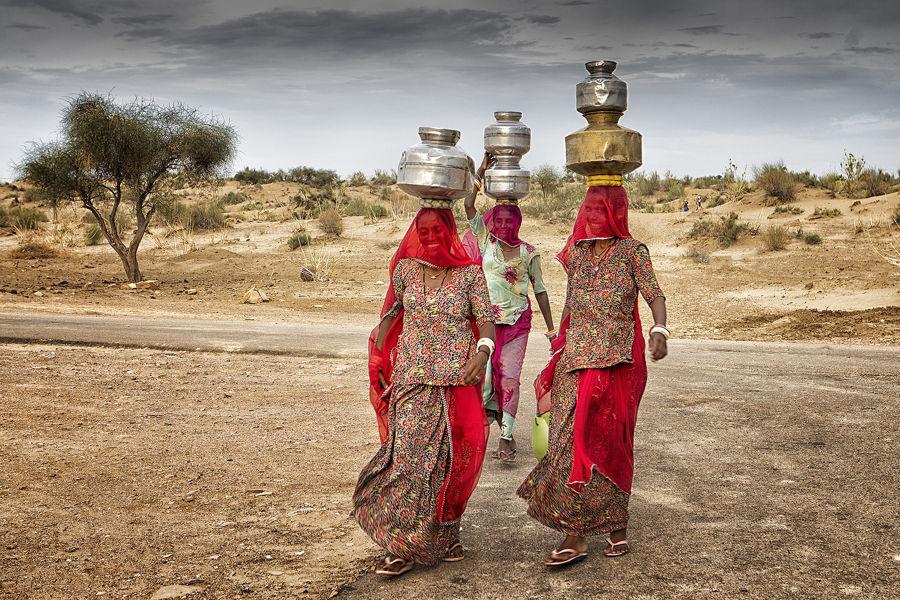 Aguadoras en el desierto del Thar