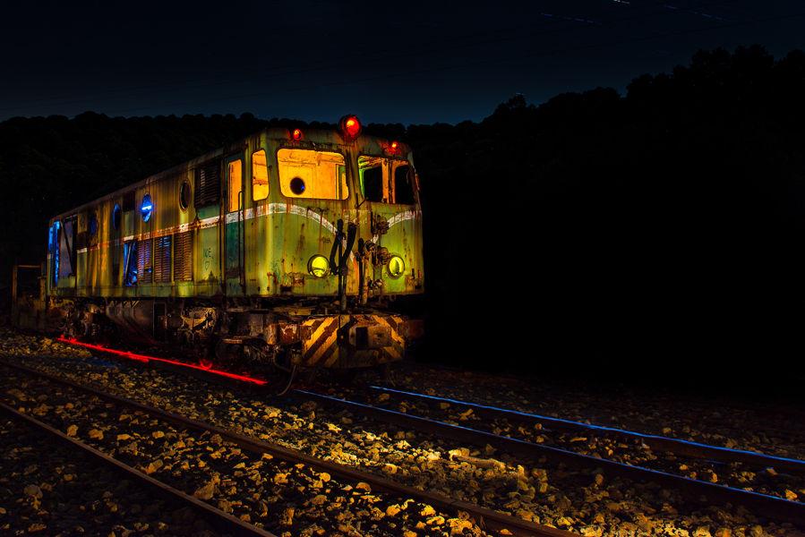 La locomotora varada