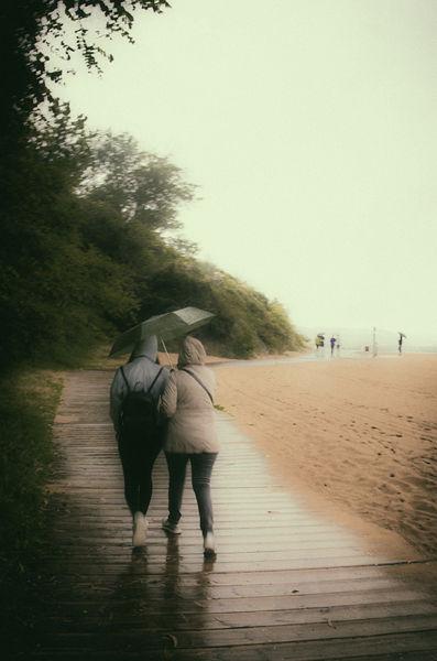 Lluvia y playa