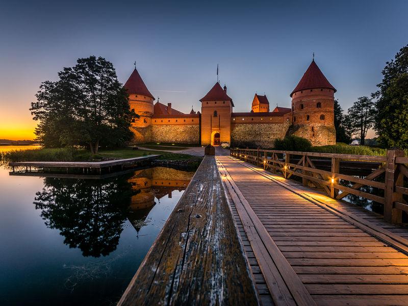 Castillo de Trakai, Lituania.