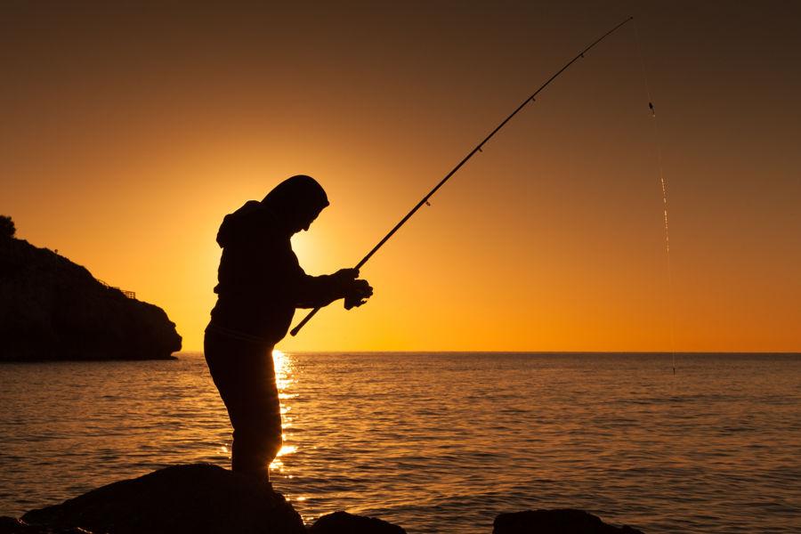 Pescando el amanecer