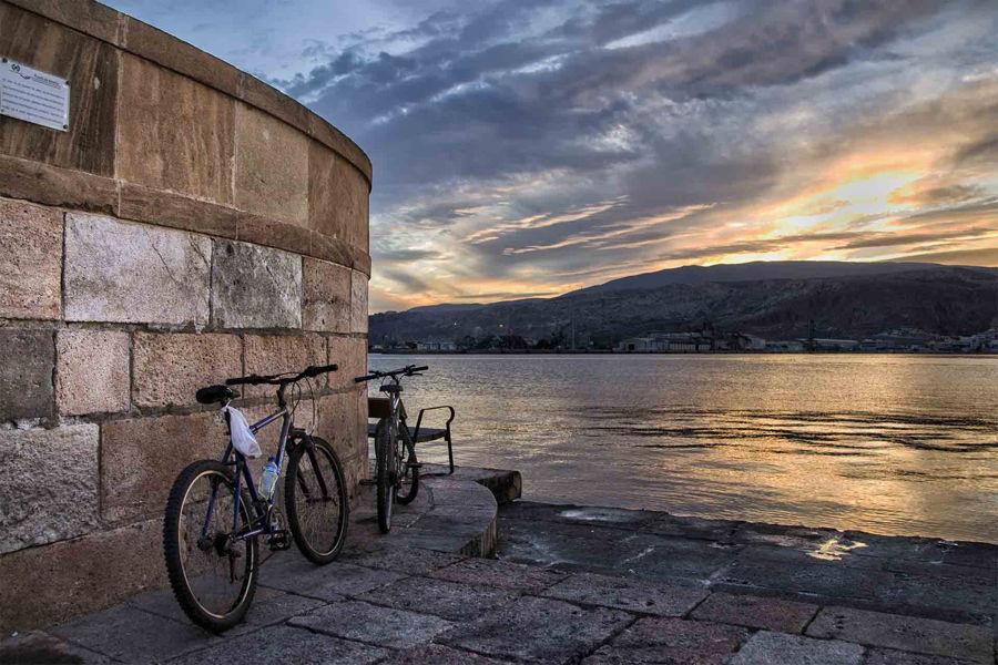 Bicicletas en el puerto