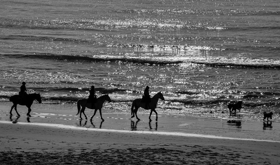 contraluz playa