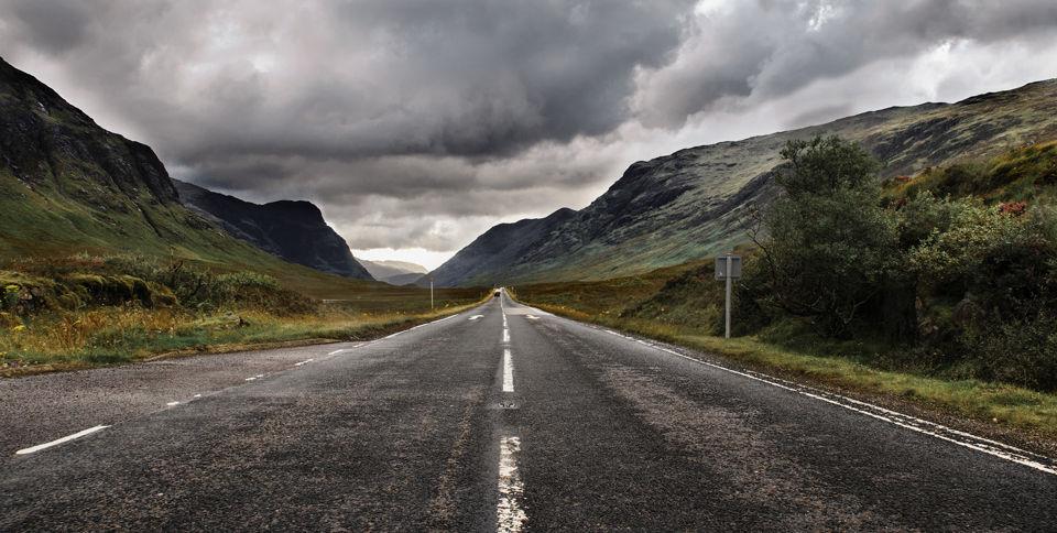 Carretera en Highland