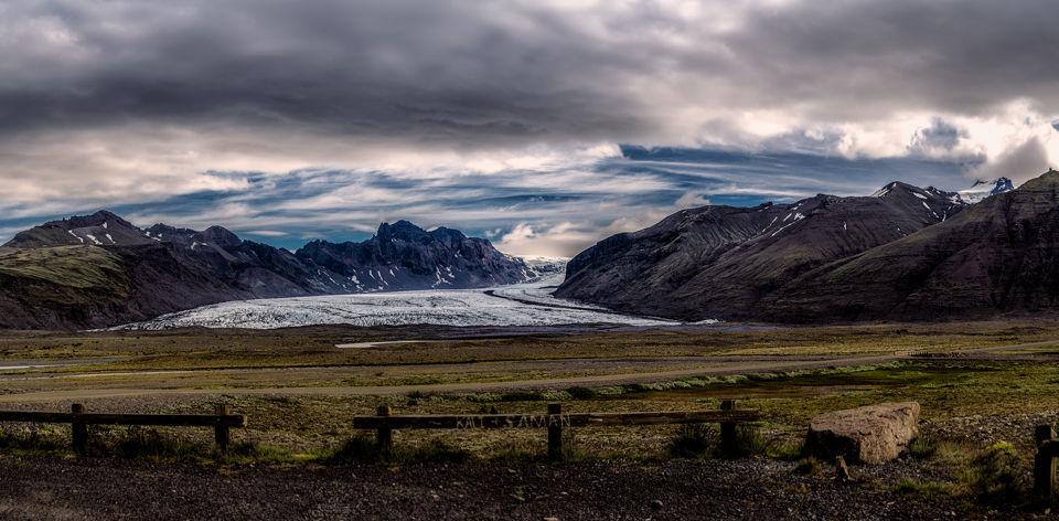 El recorrido del glaciar