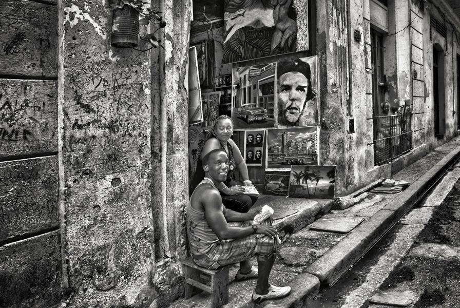 Galería de arte en La Habana