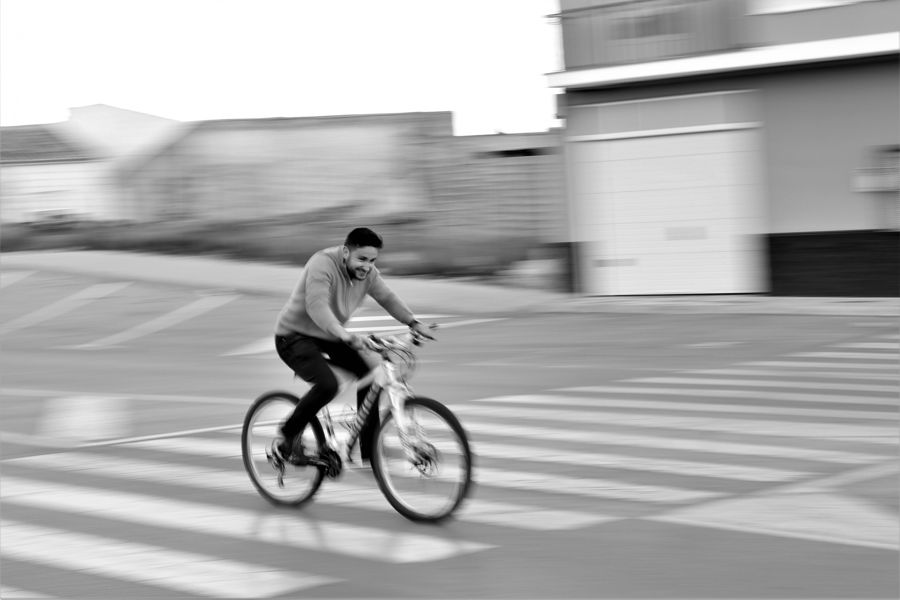 Arrastre en bici