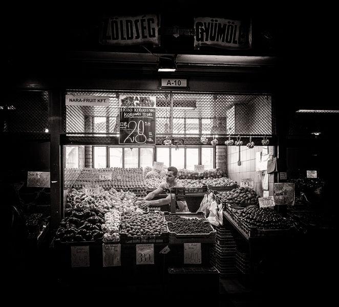En el Mercado Central de Budapest