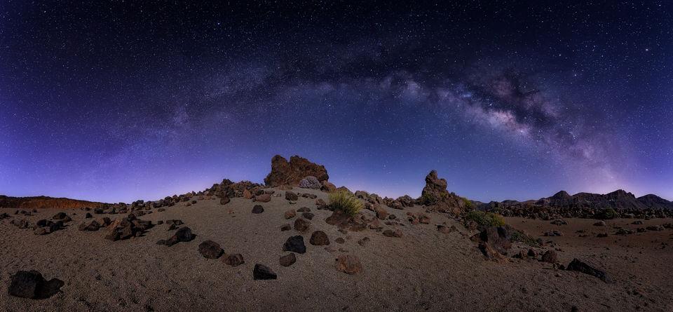 Paisaje nocturno en el Teide