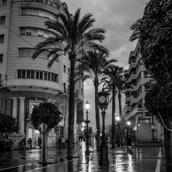 Atardecer lluvioso