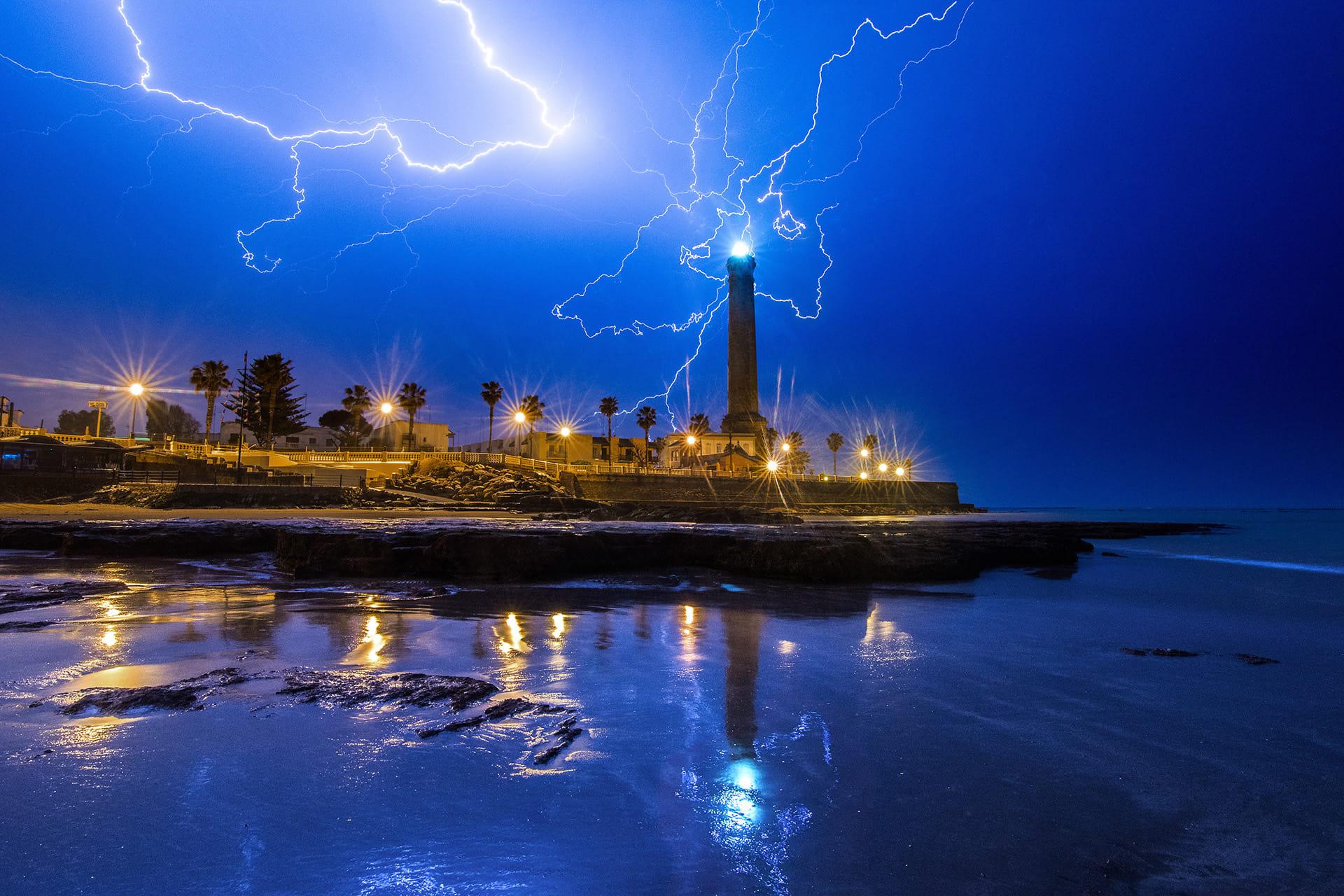 Dazzled lighthouse