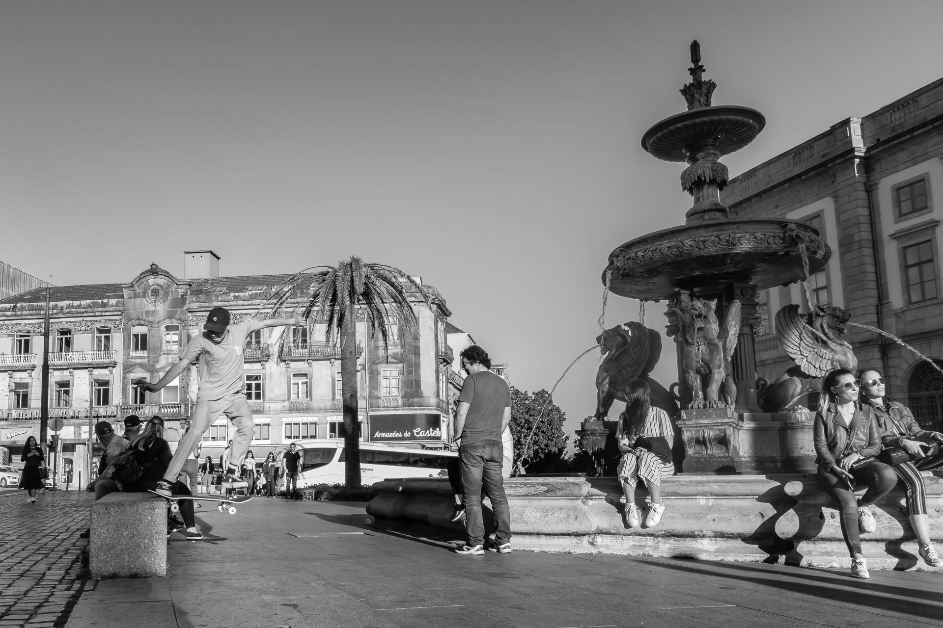 Skating in Porto