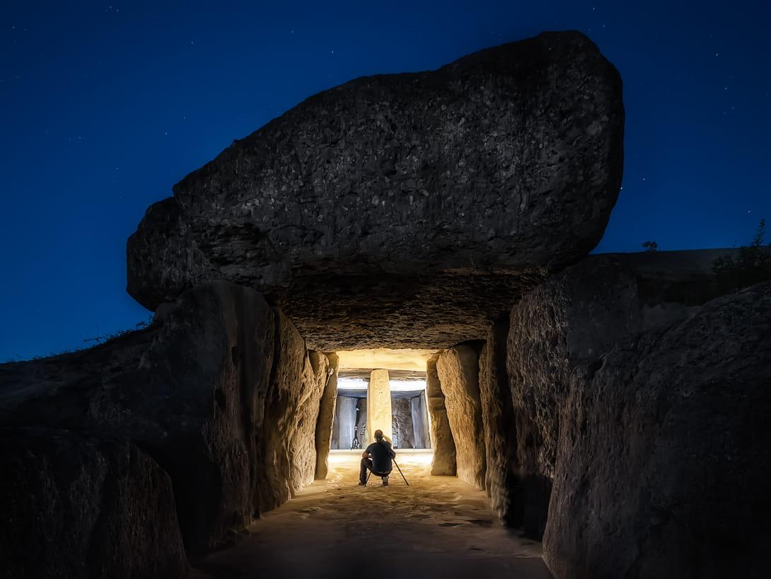 Fotografiando la prehistoria en la noche