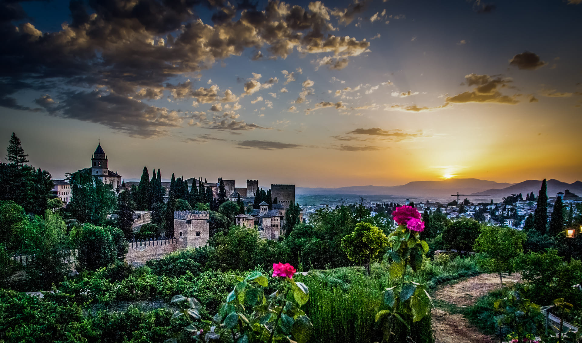 Atardecer en La Alhambra