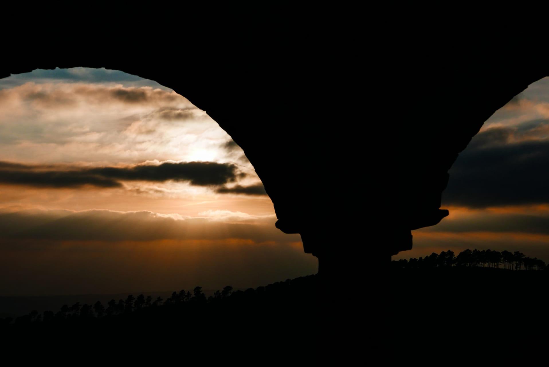 Cae el día en la mezquita (Mezquita de Almonaster la Real, Huelva)