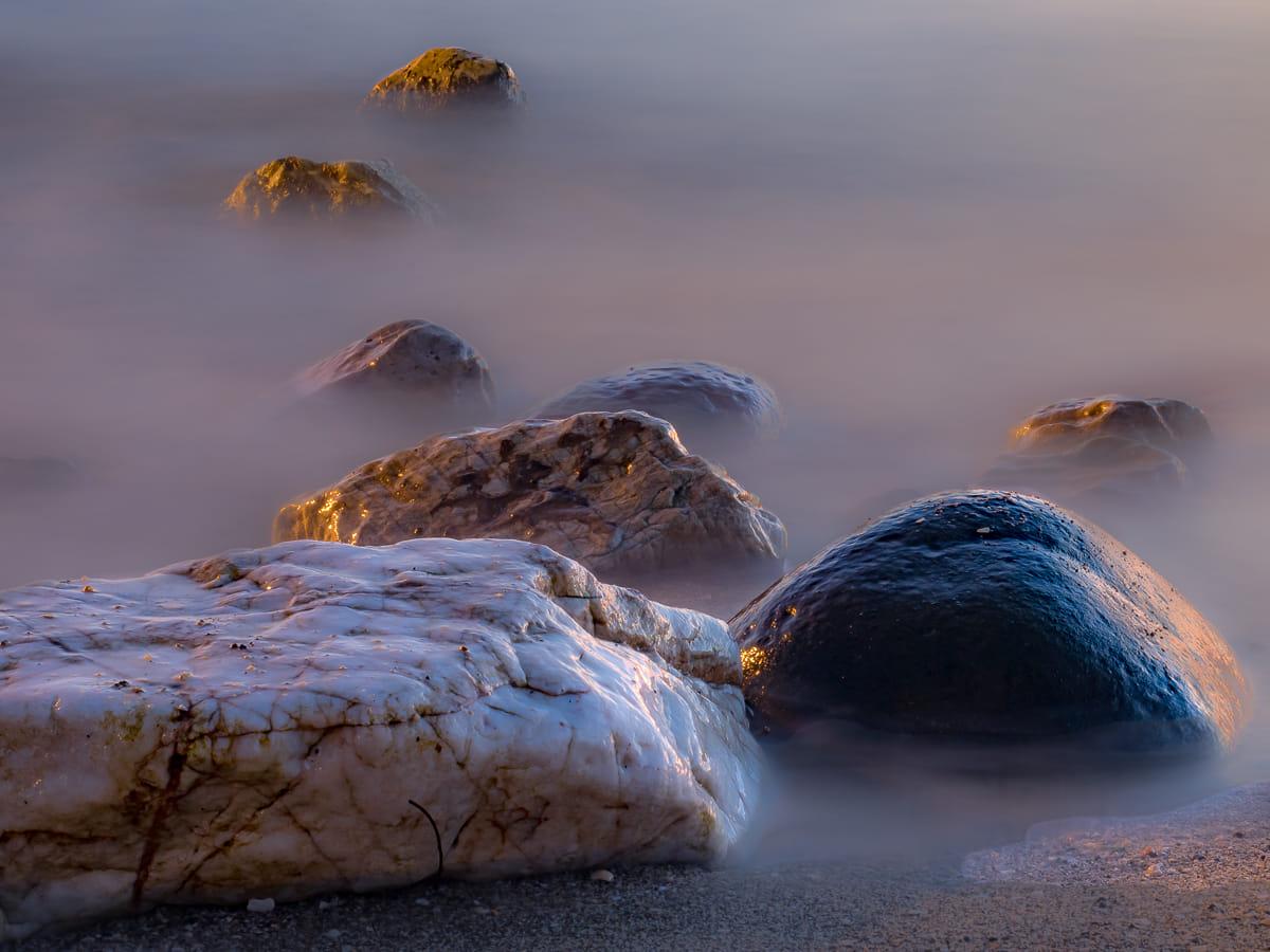 Rocas vestidas de seda