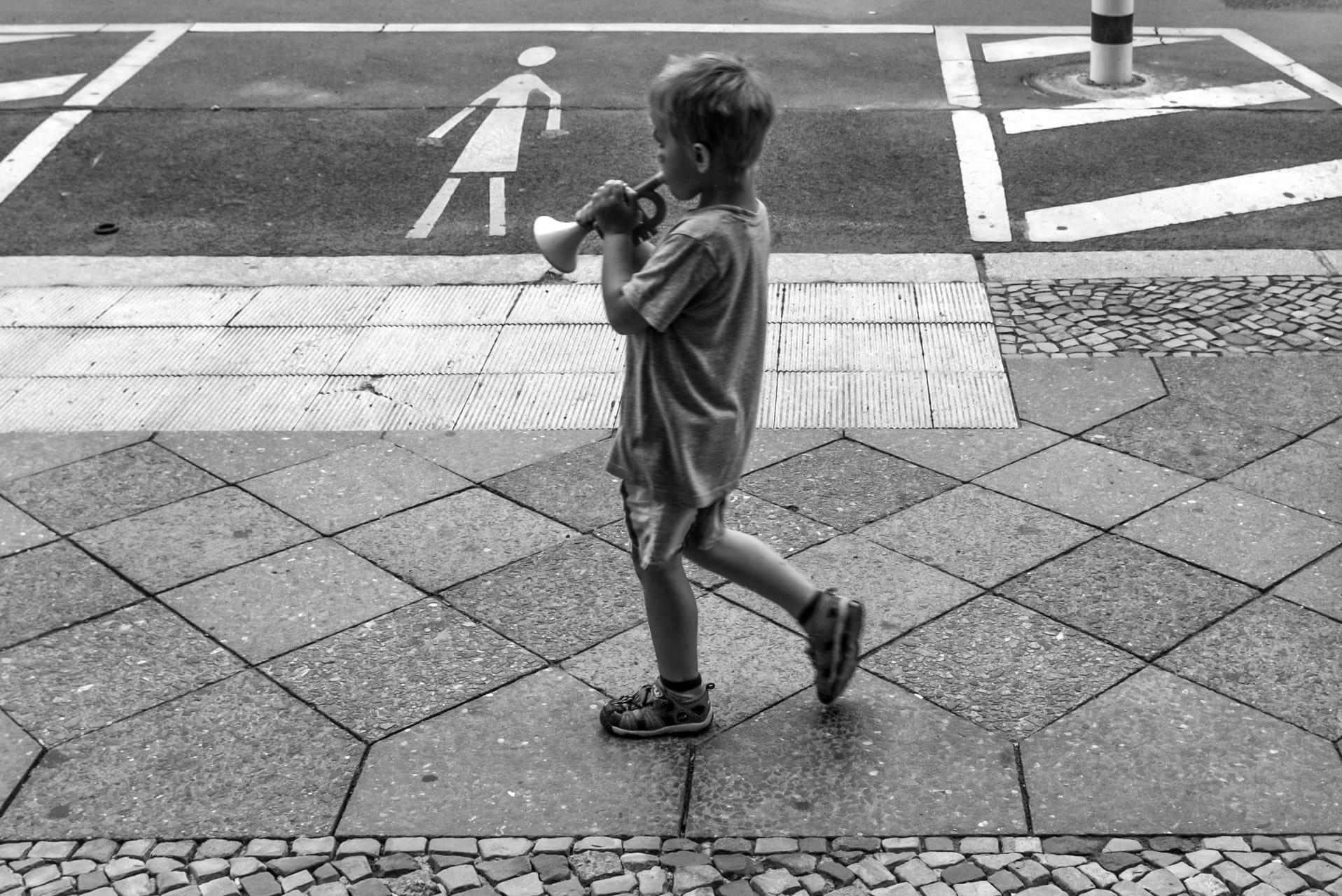 Trompetista en la ciudad