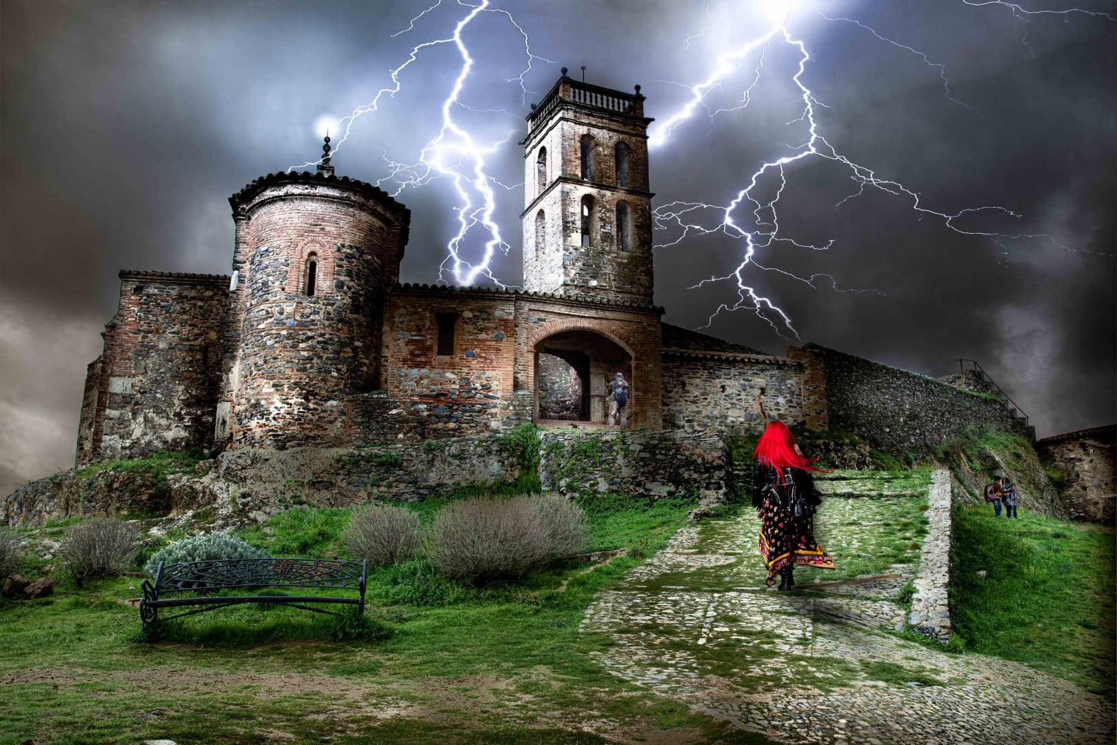 Tarde de tormenta en la Mezquita de Almonaster