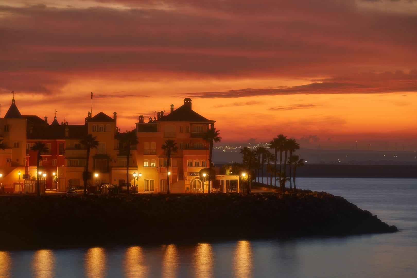 Amanecer en Puerto Sherry