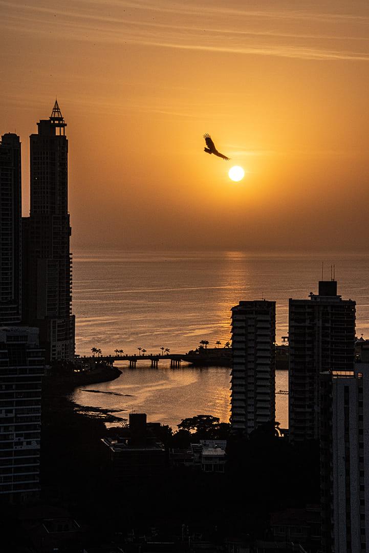 amanece en Panamá