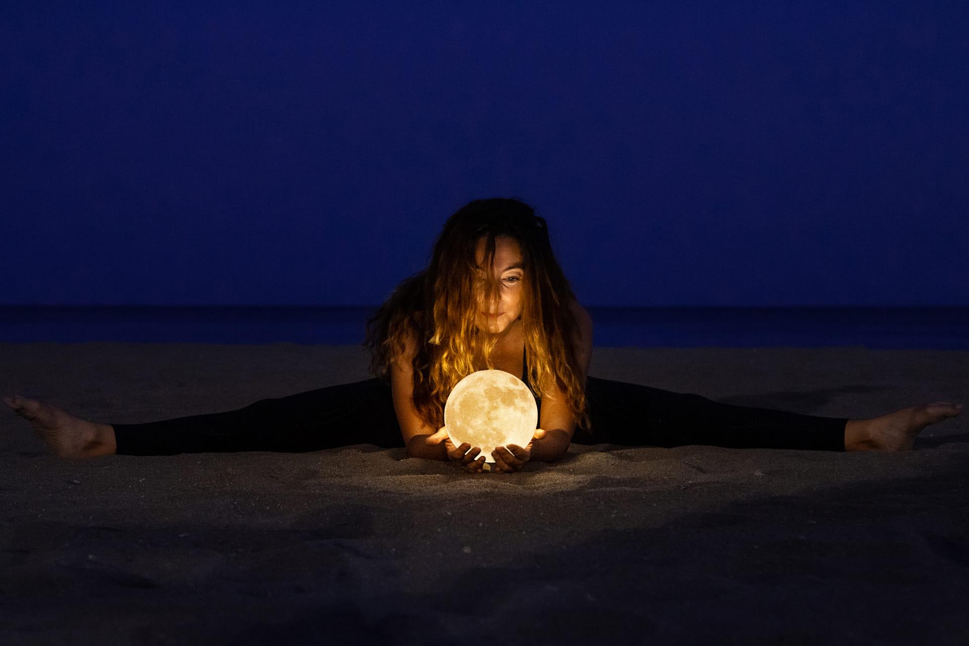 Encontré la Luna dentro la arena