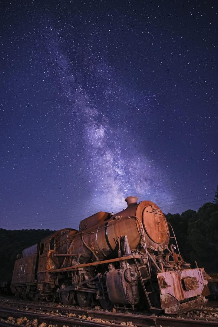 La vieja locomotora minera