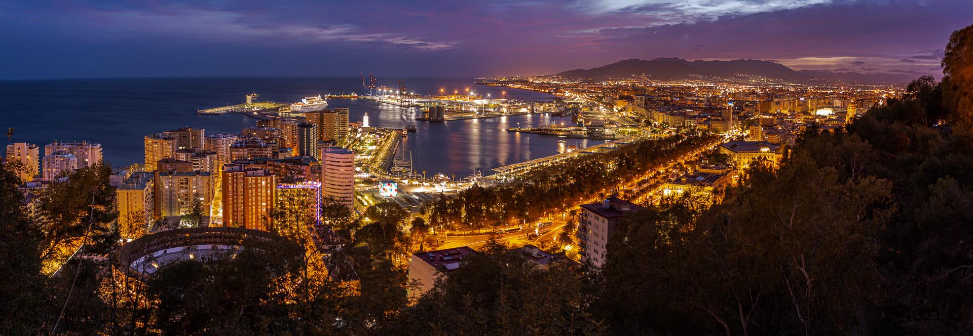 Málaga nocturna