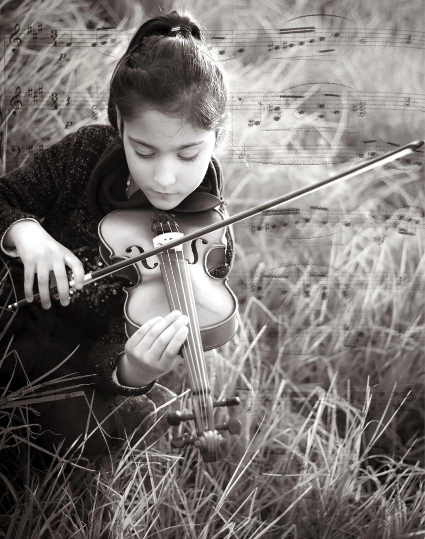 Tocando al violin