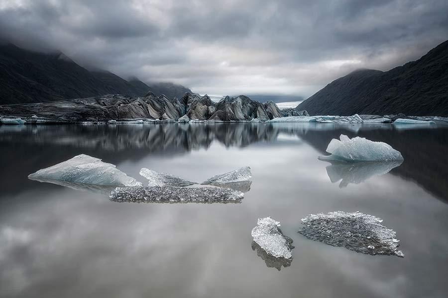 Paz en el glaciar.