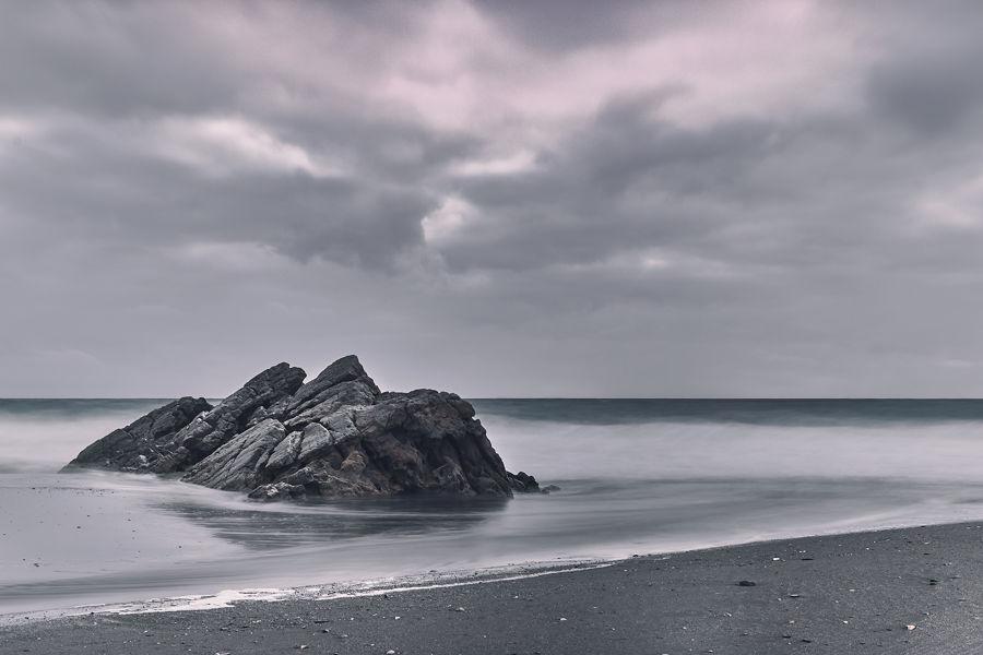 playa tempestuosa