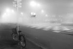Bicicleta y niebla