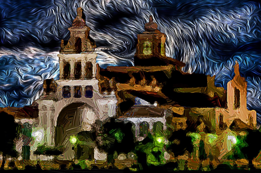 El Rocío nocturno.
