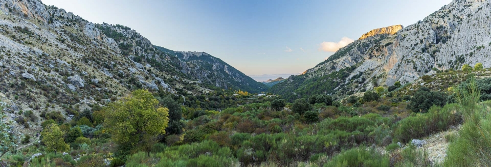 Valle de río Castril en otoño