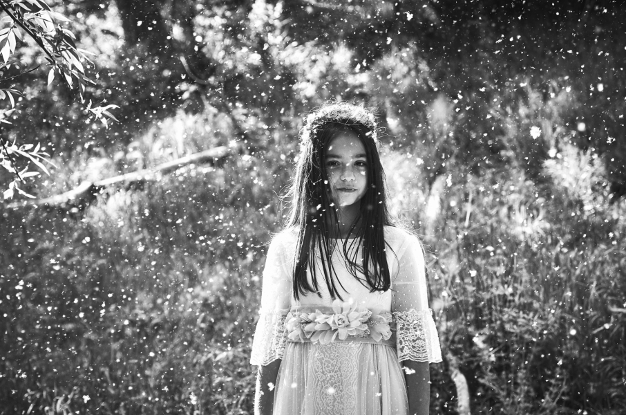La nieve y la niña