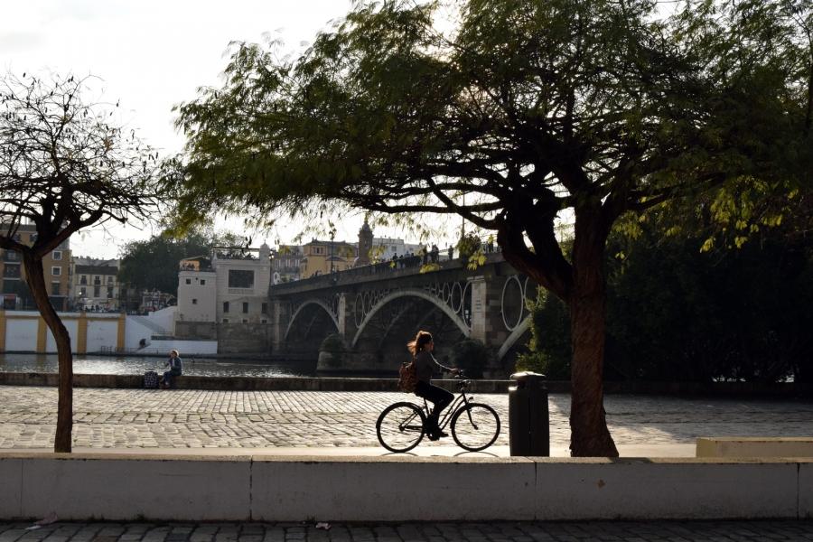En bici por el río