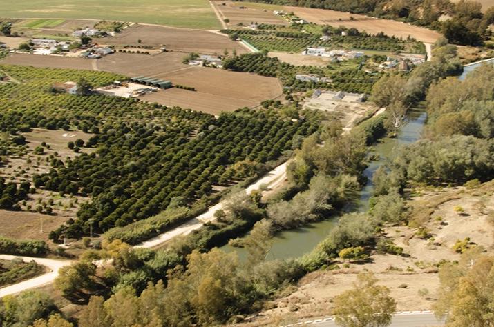Río Guadalete a su pasando por Árcos de la Frontéra