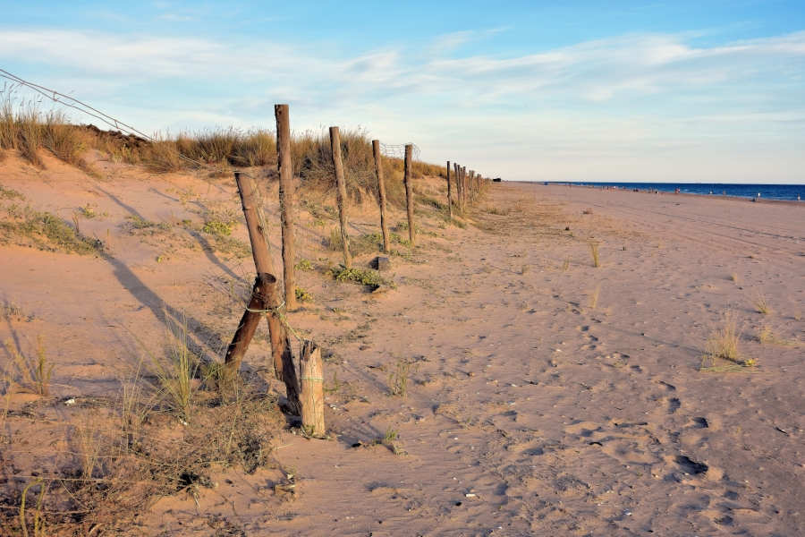Playa otoñal