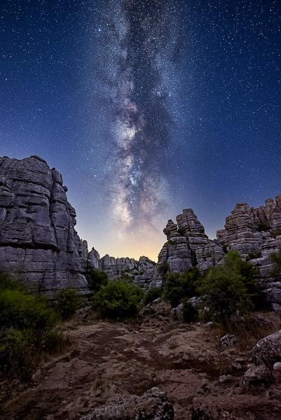 Torcal y Vía Láctea